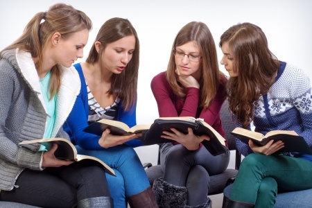 16873531 - women team learn truth from the bible
