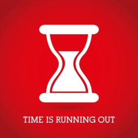 24460208 - time design  over red background vector illustration