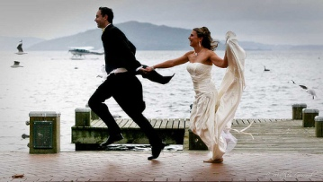 Bride-and-Groom-Running
