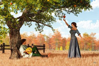 couple_at_the_old_apple_tree_by_deskridge-d81yjf4